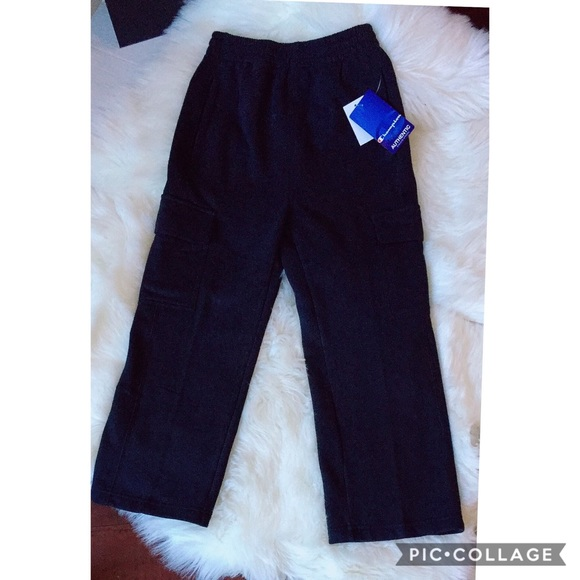 size 7 clearance prices usa cheap sale Champion Authentic Boy Fleece Cargo Pants NWT